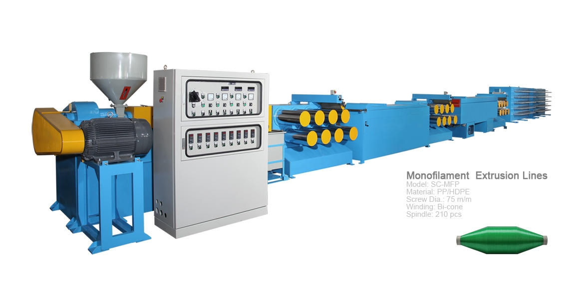 PP/HDPE Monofilament Extrusion Line(SC-MFP75)